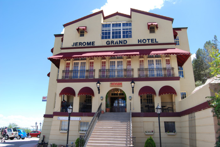 15. Plan a stay at the Jerome Grand Hotel for a spooky night.