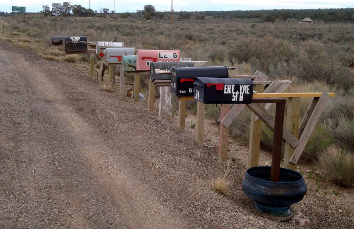 5. You know your home is in a quiet, private place when the mailman leaves your mail on the Rural Route.