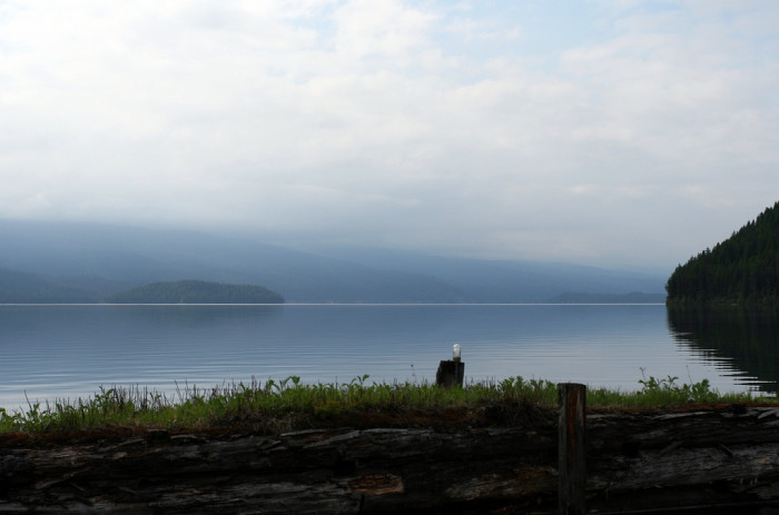 4. The fog rising over Priest Lake in the morning makes the distant shore seem impossible to reach.
