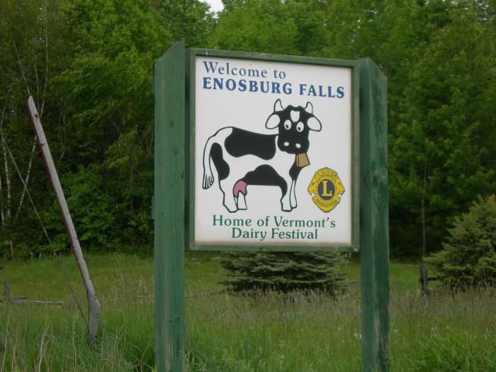 7.  Enosburg Falls