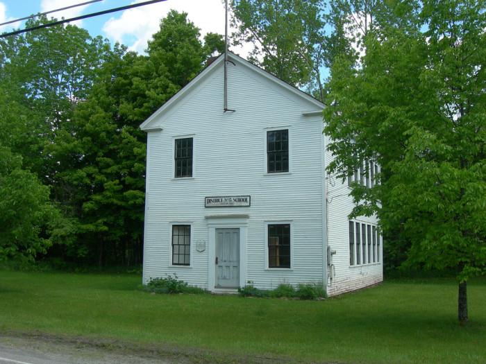 10.  Disctrict 5 schoolhouse in Underhill Center.