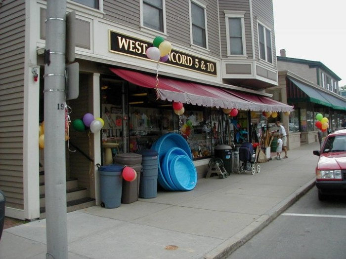 8. West Concord Five and Ten, Concord