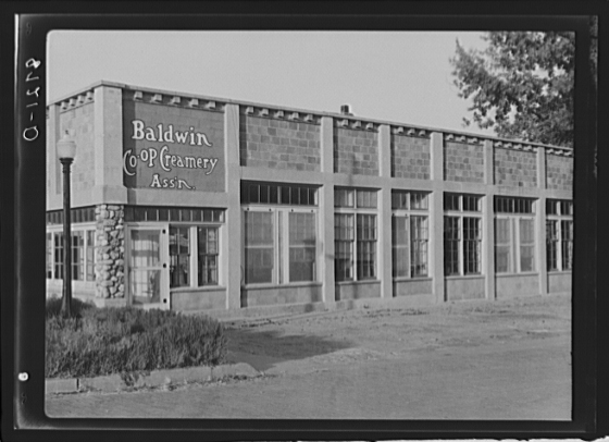 "8. ""Co-op Creamery. Baldwin City, Kansas."" (1938)"