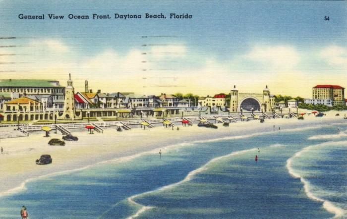 "9. ""General View Ocean Front, Daytona Beach, Florida"""