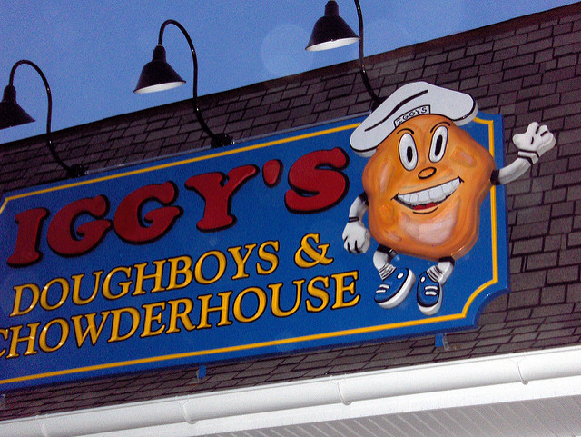 2. If you don't recognize the Iggy's sign, we hope you visit them soon for clamcakes and chowder. They're conveniently located in both Warwick and Narragansett.