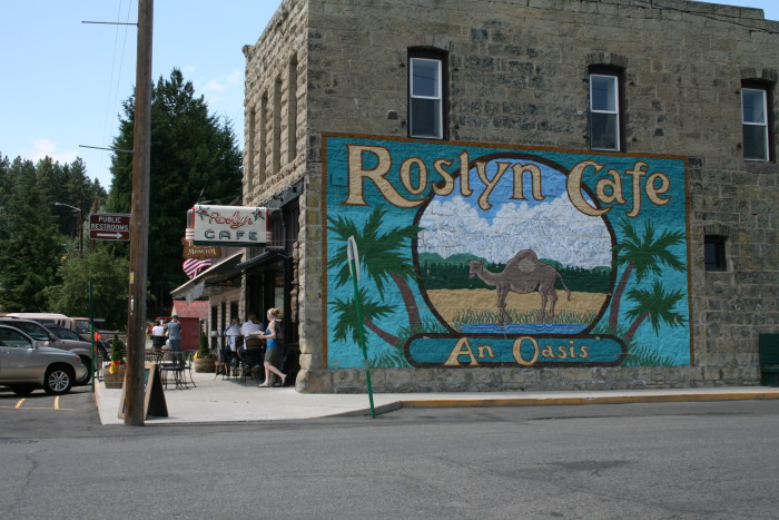 13. This small town mural was seen in the show Northern Exposure.