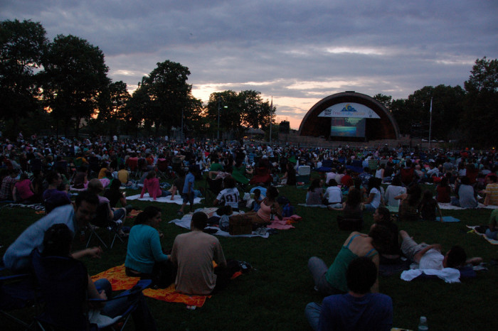2. Watch a free movie at the Hatch Shell besides the Charles River.