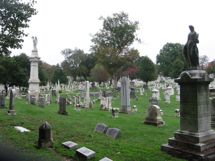 14) Take a walk through the historic Green Mount Cemetery.