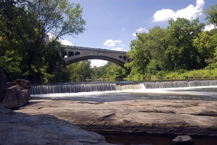 7. The Brandywine River as it flows through Wilmington