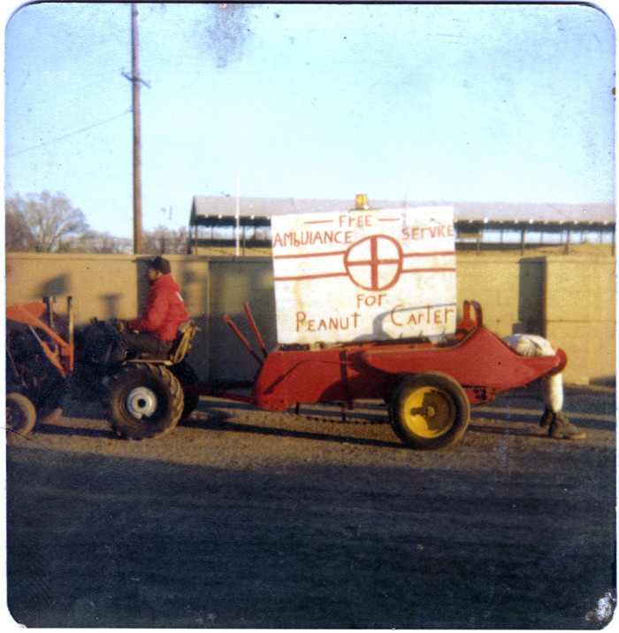 "17. ""Tractor Cade on way to Washington DC. Taken at Fairgrounds, Topeka, Shawnee County, Kansas, when Jimmy Carter was President. 1977."