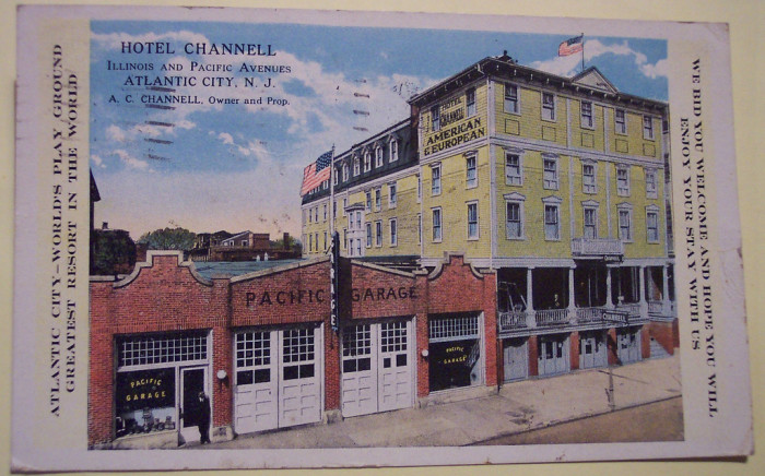 3. I love the text on the sides. Hotel Channell is pictured circa 1919.