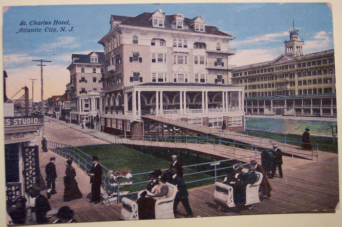 4. You can still be pushed around on the Boardwalk!  St. Charles Hotel circa 1910.