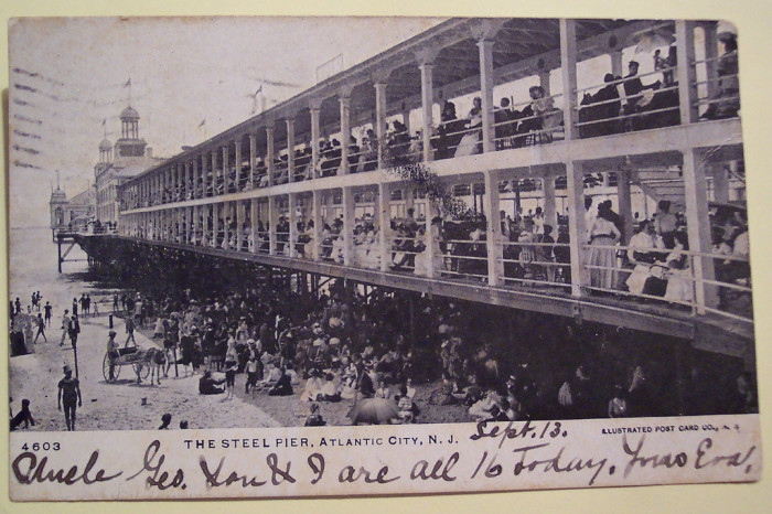 6. The famous Steel Pier circa 1906.