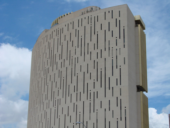16. Here's a tough one. This spot is found in midtown Phoenix and was designed to resemble a computer punch card.