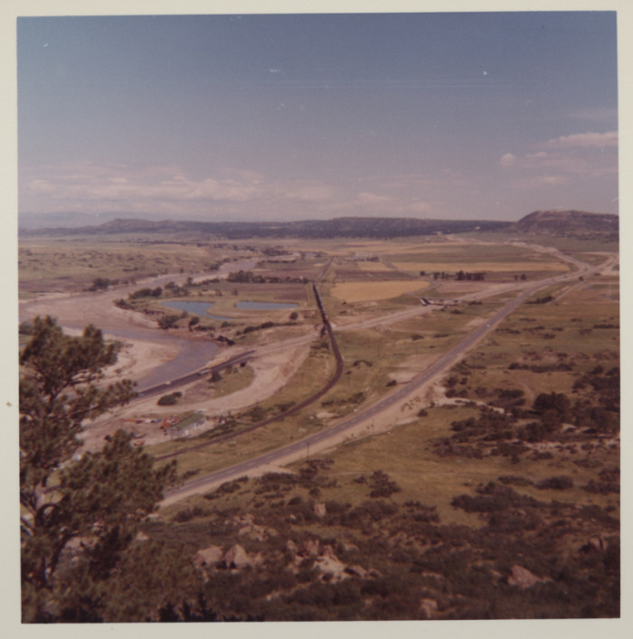 """11. """"View from Castle Rock, Colo., to the north after the 1965 flood."""""""