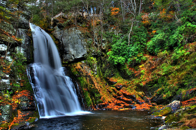 Bushkill Falls, one of the most popular waterfall destinations...