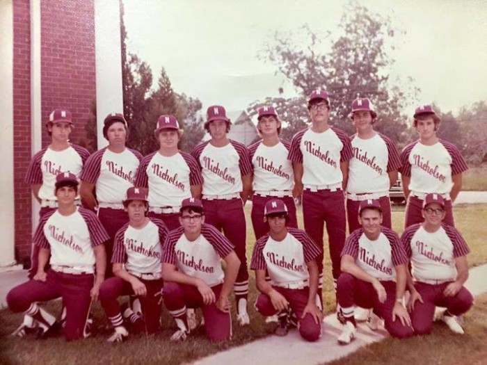 3. The 1974 - 1975 Nicholson baseball team poses for a picture.