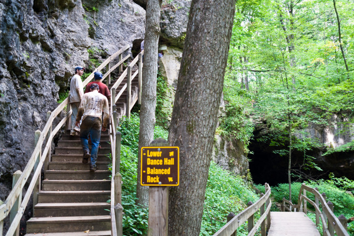 Or climb their wayup to the top of the steepledges and towering bluffs to get a view of the amazing area.