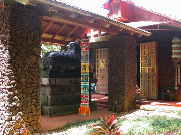 The Kauai Hindu Monastery features two Saivite Hindu temples, Kadavul Temple, pictured below, and the San Marga Iravian Temple. Hindu pilgrims from around the world have been visiting the temple to worship for more than 40 years.