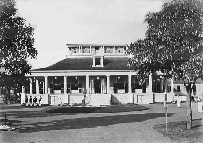 3. The original Hale Ali'I, home to King Kamehameha IV and Queen Emma, on the site that is now home to the Iolani Palace.