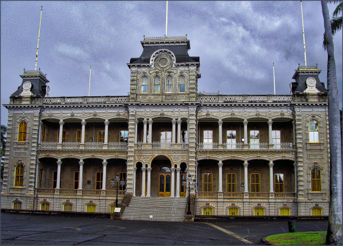 On this very site is the Iolani Palace, the only royal palace on United States soil.