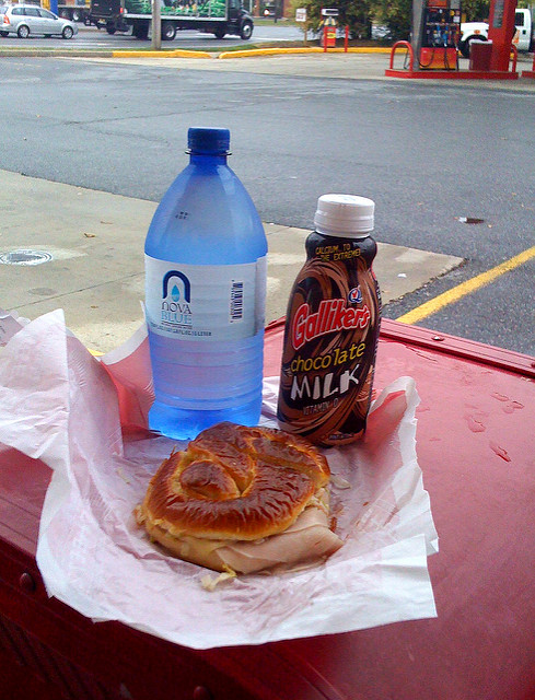 8. Speaking of which, you'd rather get a gas station meal than go out for a romantic dinner.