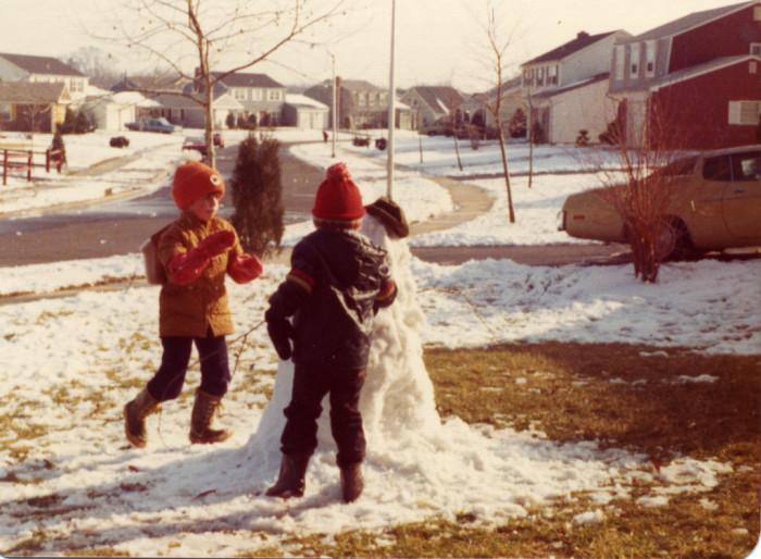 6. Winter in Willingboro circa 1974.