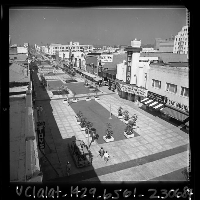 2. Santa Monica 3rd Street Promenade as it looked back in 1965.
