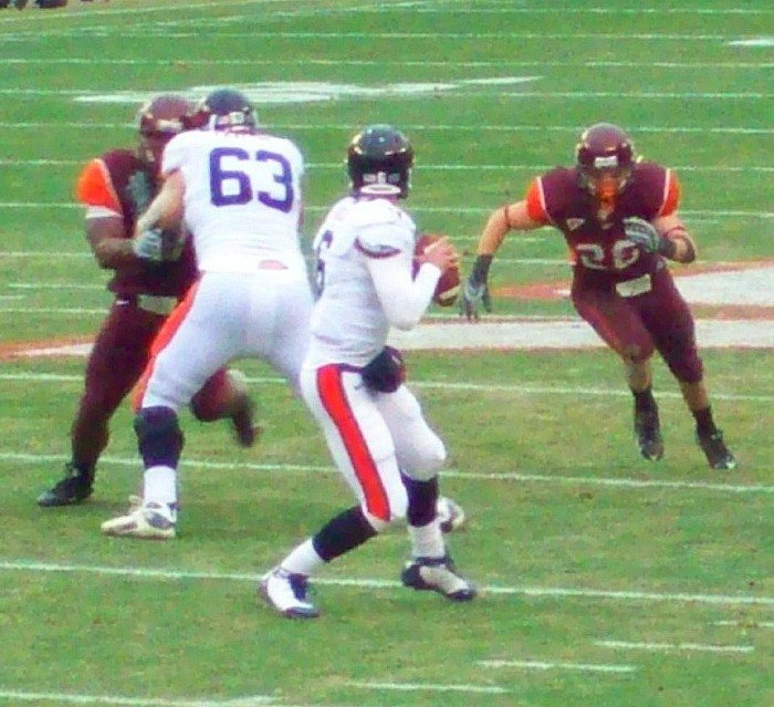 19. UVa versus Virginia Tech: you've chosen your side and you're sticking to it.