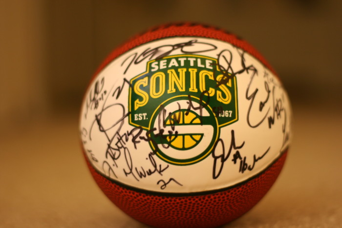 3. Or rooting for the Sonics.