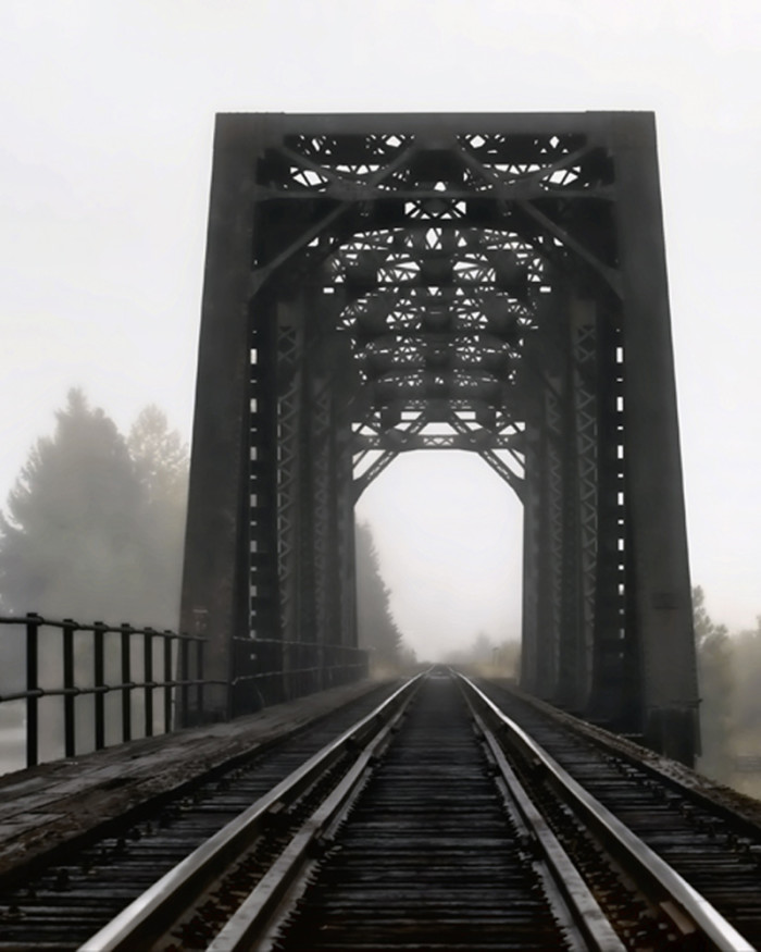 5. But if this eerie Priest Lake bridge was enveloped by any more fog, we might not want to cross it.