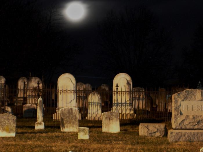 12) This eerie cemetery photo was taken in Reisterstown.
