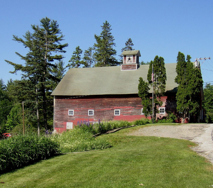 9. This massive barn is in the White Mountains.