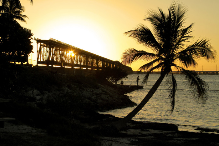Bahia Honda State Park is famous for these iconic images of one of the railroad bridges.