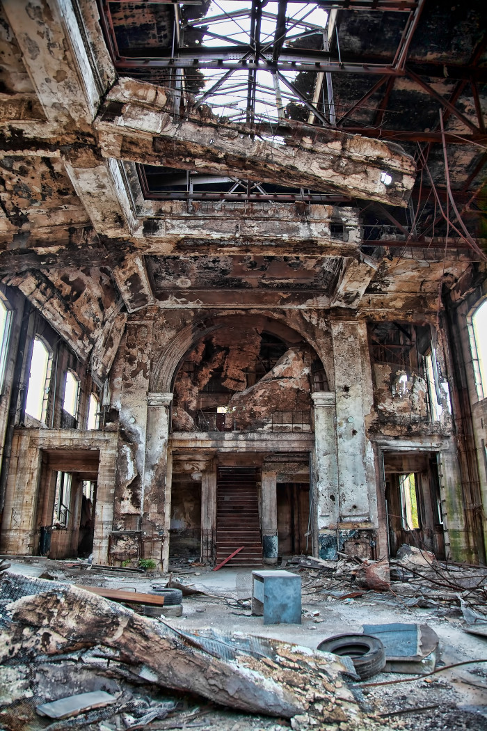 Abandoned Union Station in Gary, Indiana