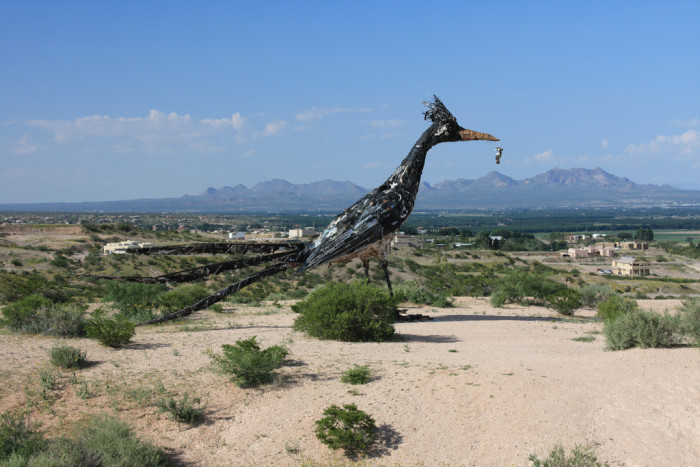 1. Giant Roadrunner Statue, Las Cruces