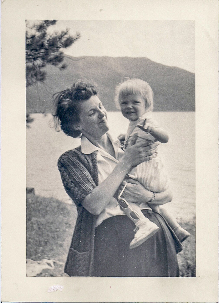 """2. """"Aunt Lucille holds Connie during a Durango, Colorado vacation."""" (1950)"""