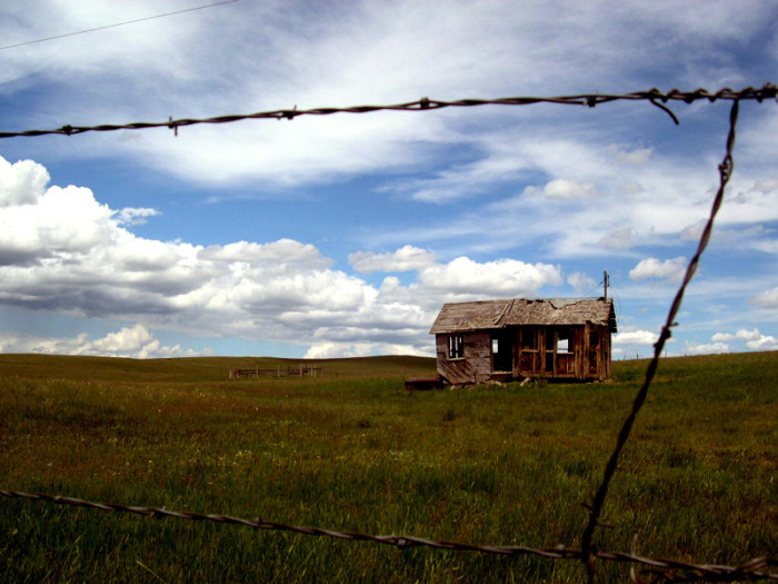 10. An abandoned cabin in Wyoming.