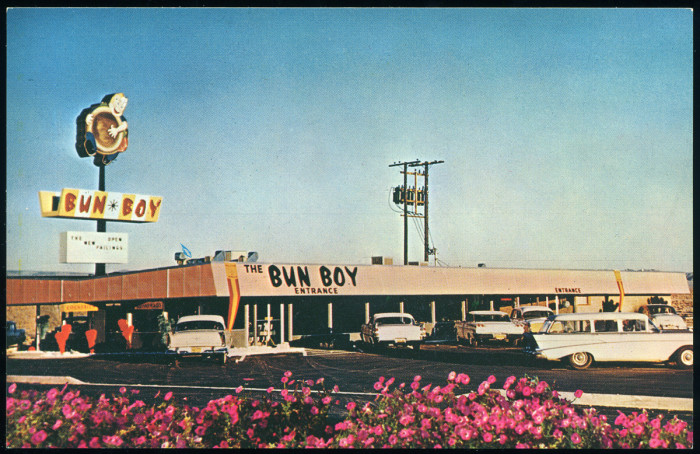 10. The iconic Bun Boy building located in Baker as captured in this picture from the 1960s.