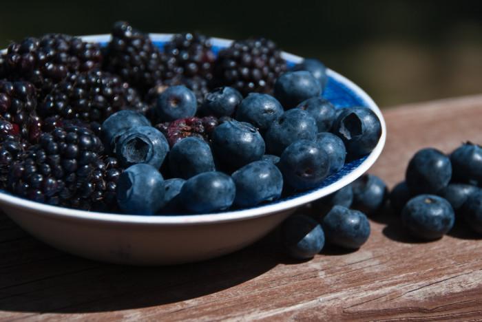 "7. Eating fresh-picked berries: ""Tastes like candy!"""