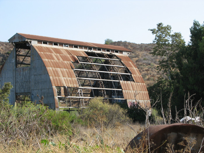 "5. The remains of a former dairy farm run by the Camarillo State Mental Hospital that was used as a site to help patients gain work experience. It was abandoned in 1960.  It's been nicknamed ""The Scary Dairy."""