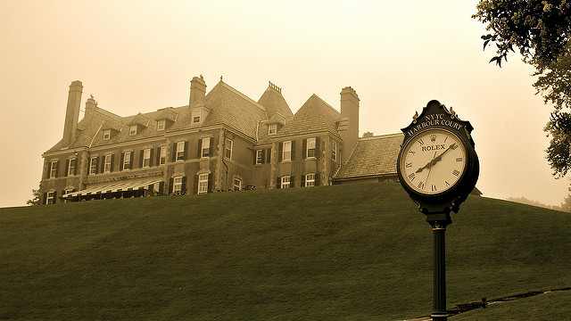 3. This photo of the Newport Yacht Club is powerful with an air of mystery.