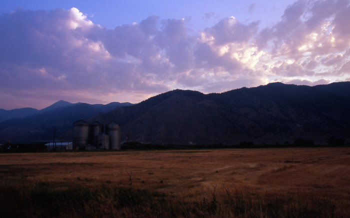 12. A beautiful silo sunset near Genoa, Nevada.