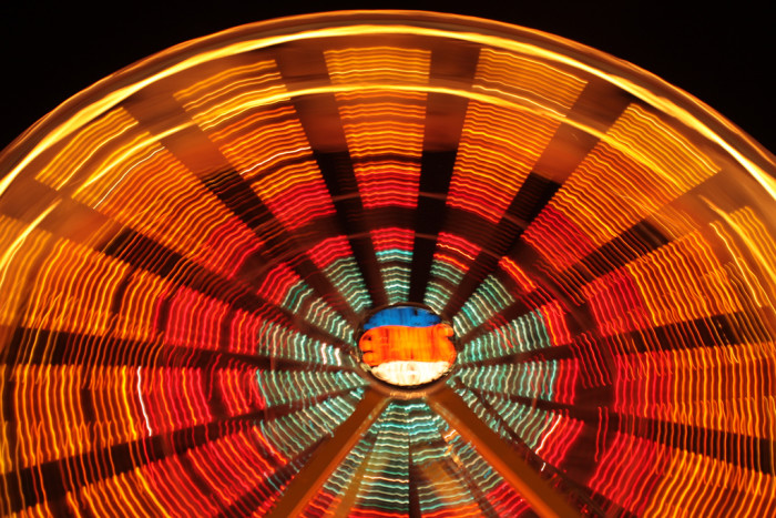 Ferris Wheel in Western SD - photographed at night