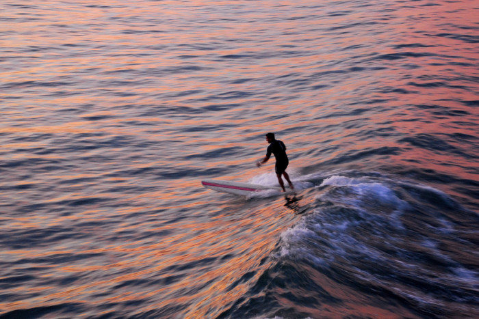9. Oceanside is sure pretty in pink.  Anyone up for some surfing at sunrise?