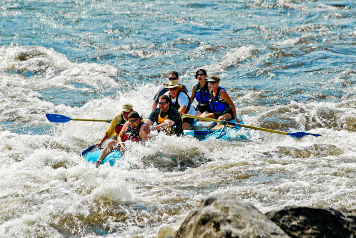 11. Our love of adrenaline-pumping, dangerous activities... like whitewater rafting.
