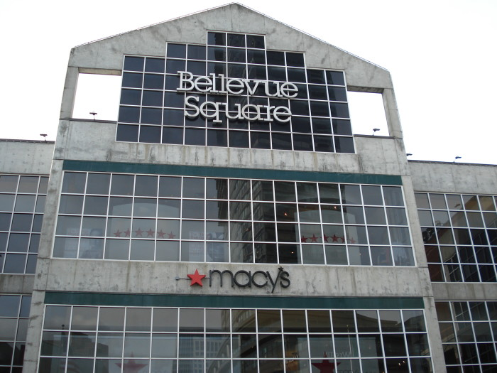 7. Shopping at the Bellevue Square outside.