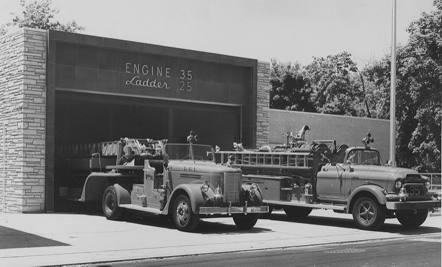 4. This is what a Philadelphia fire department looked like in 1969. Those trucks are definitely retro.