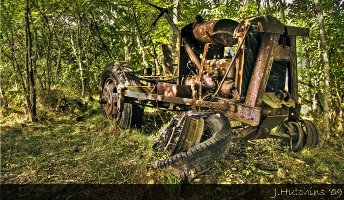 8. Can you tell where nature ends and this tractor begins?