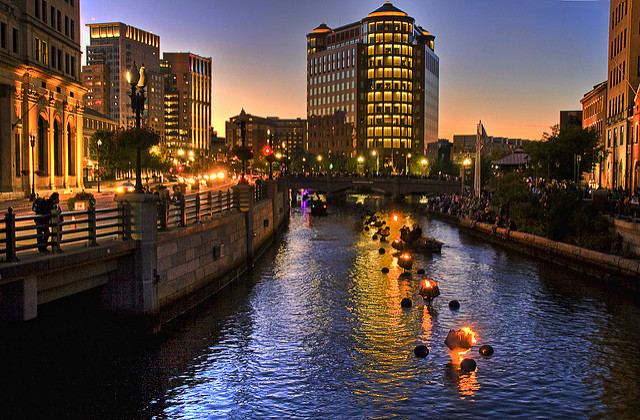 6. The Providence Waterfire is just so very Rhode Island and so very magical to look at.